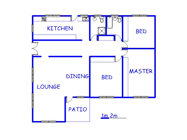 Floor plan of the property in Vaalpark