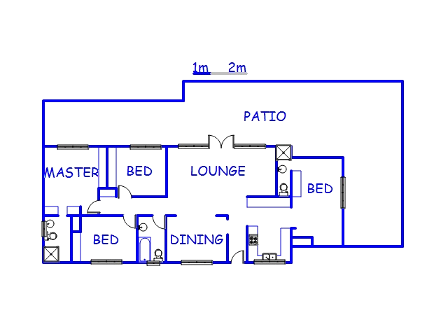 Floor plan of the property in Paradise Valley