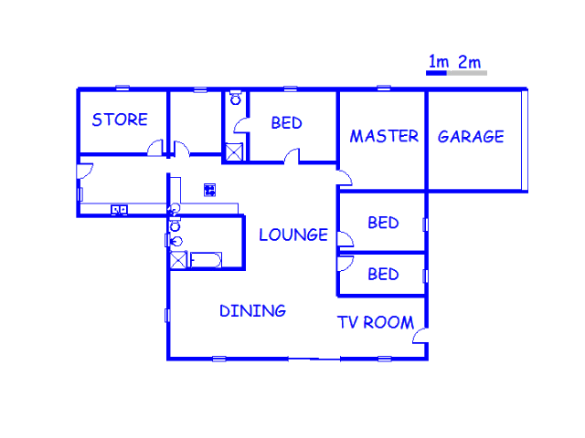 Floor plan of the property in Vaalwater