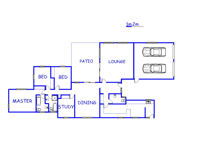 Floor plan of the property in Volksrust