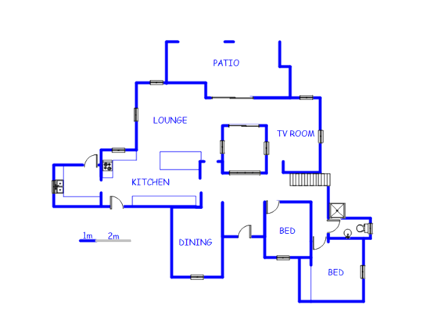 Floor plan of the property in New Brighton