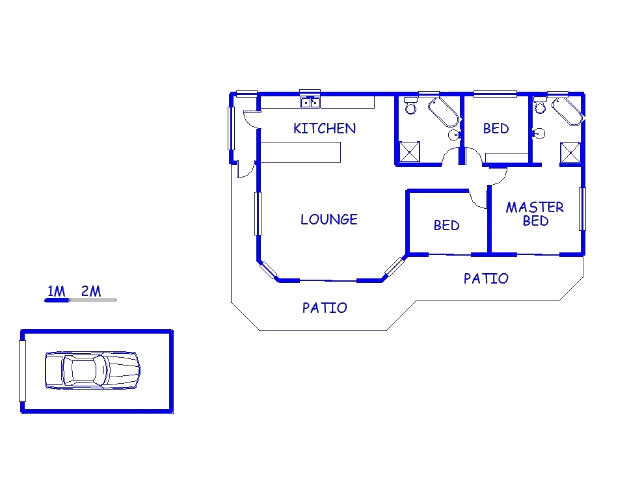 Floor plan of the property in Bluewater Bay