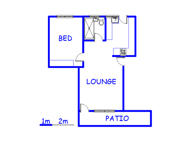 Floor plan of the property in Three Anchor Bay