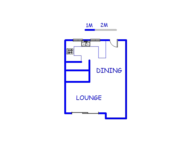 Floor plan of the property in Silver Lakes