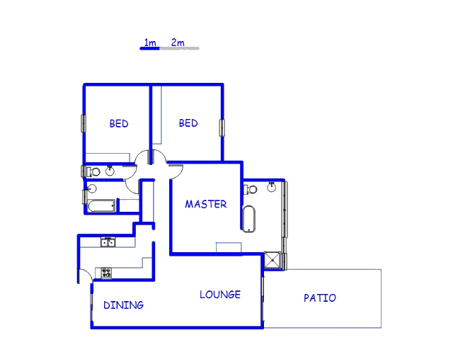 Floor plan of the property in Monument