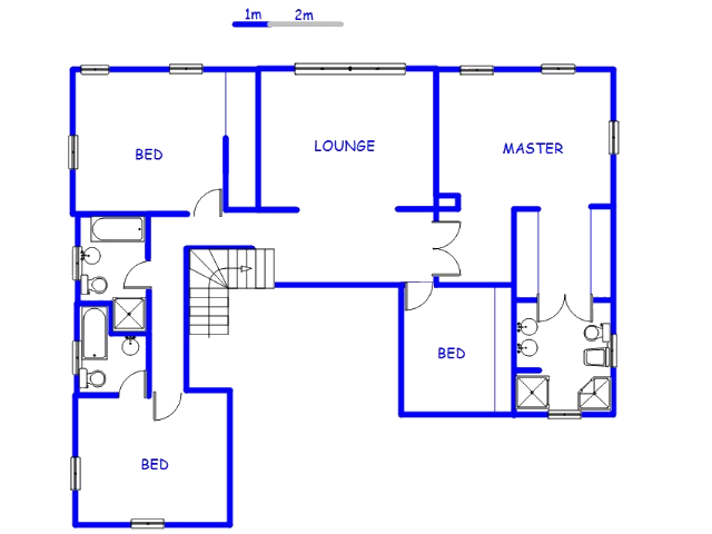Floor plan of the property in Beverley A.H.