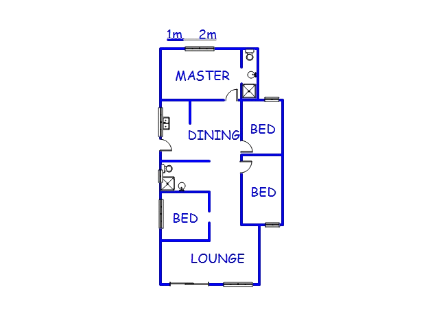 Floor plan of the property in Shastri Park