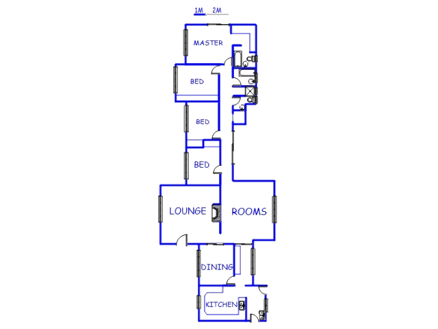 Floor plan of the property in Valhalla