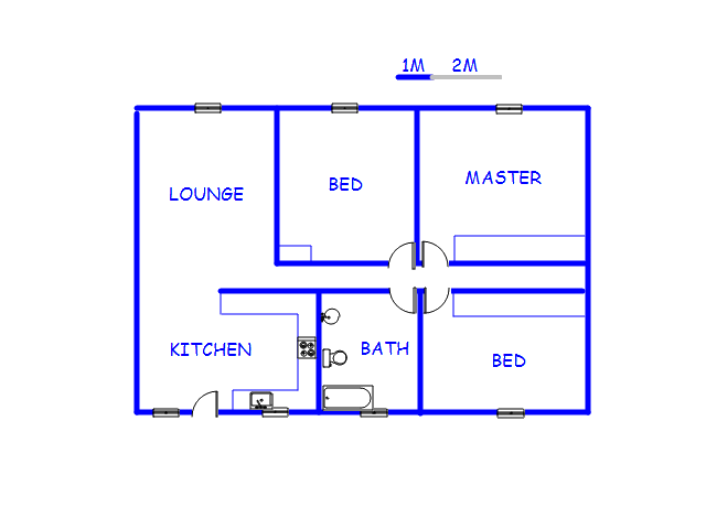 Floor plan of the property in Dinwiddie