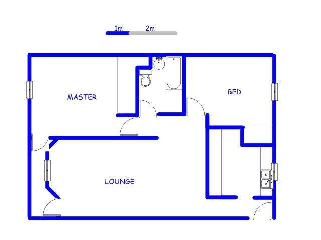 Floor plan of the property in Parktown