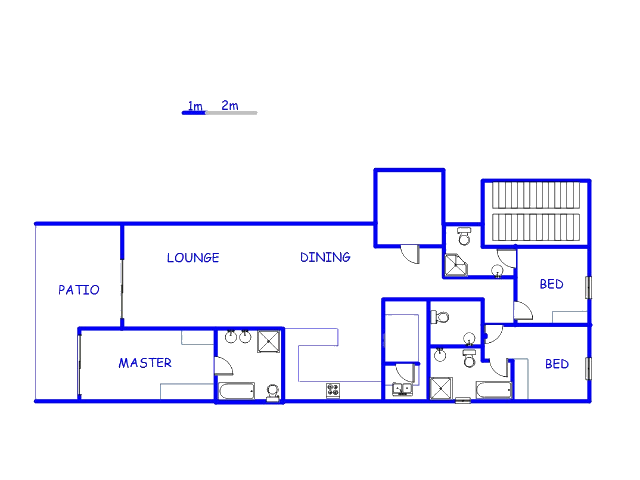 Floor plan of the property in Houghton Estate