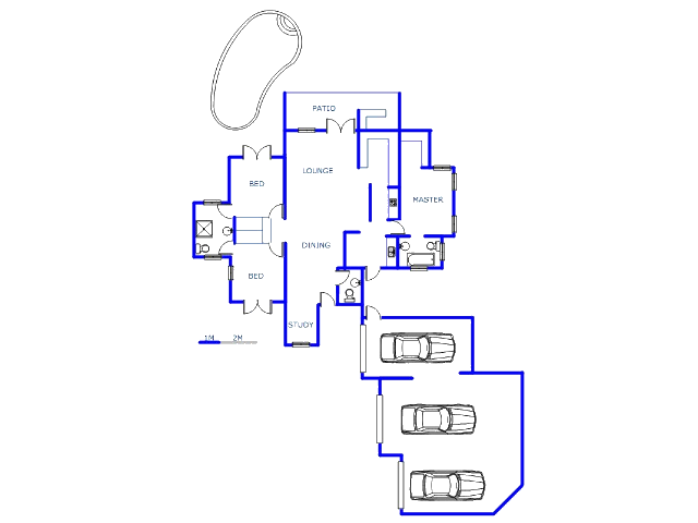 Floor plan of the property in The Meadows Estate