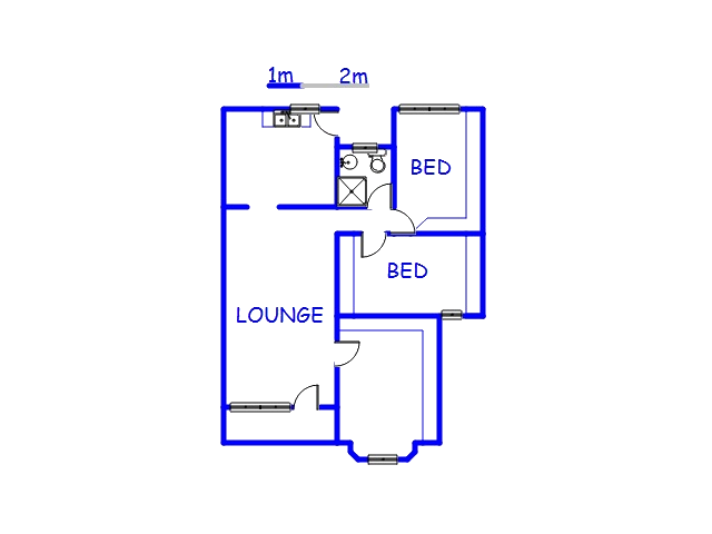 Floor plan of the property in Northdale