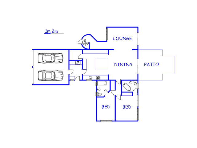 Floor plan of the property in Murrayfield