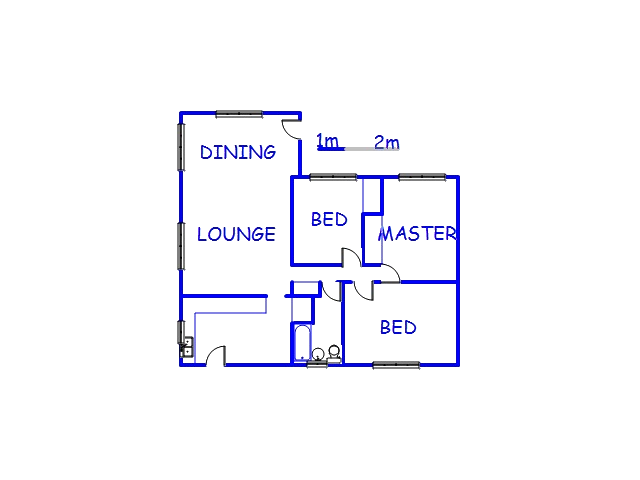 Floor plan of the property in Mandini