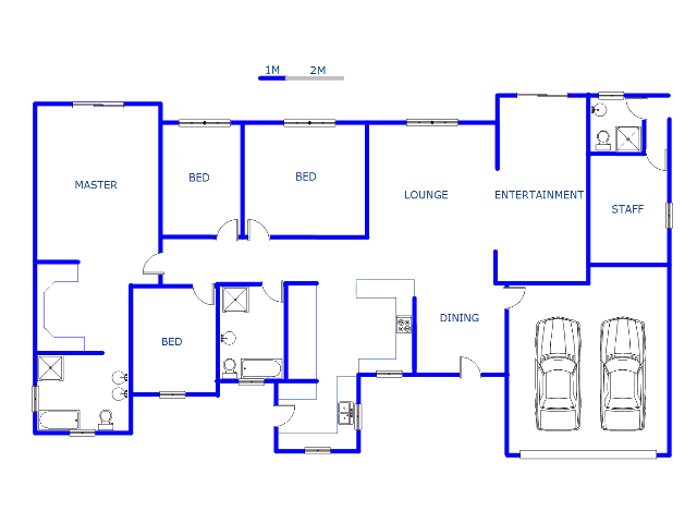 4 bedroom house floor plans south africa for Four bedroom house plans in south africa