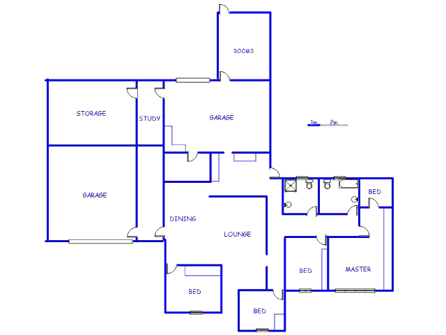 Floor plan of the property in Krugersdorp