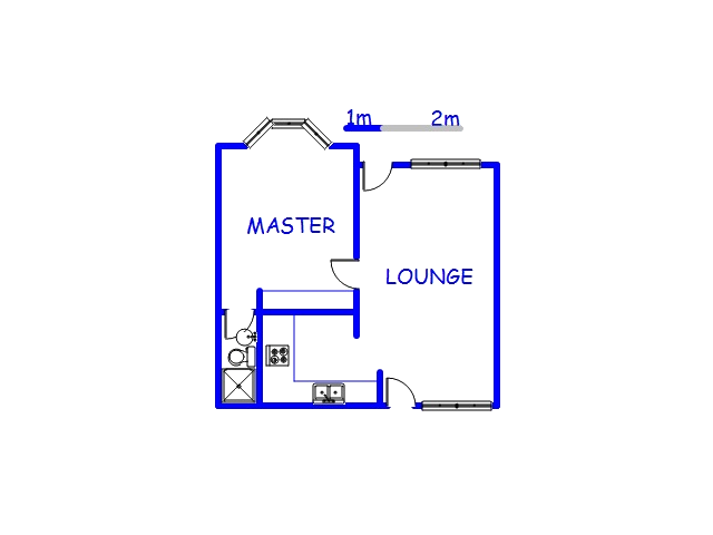 Floor plan of the property in Sherwood