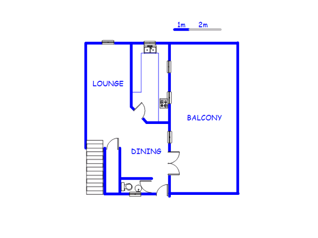 Floor plan of the property in Bellevue East
