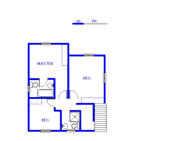 Floor plan of the property in Cosmo City