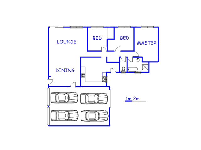 Floor plan of the property in Booysens
