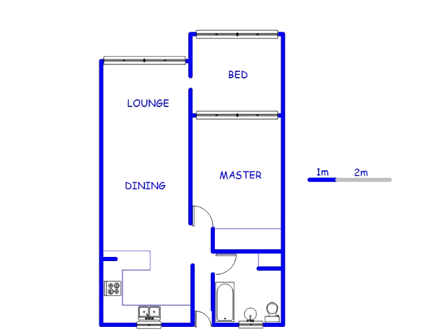 Floor plan of the property in Roodepoort