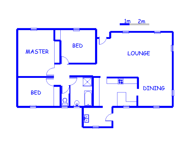 Floor plan of the property in Rhodesfield