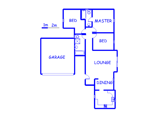 Floor plan of the property in Springs