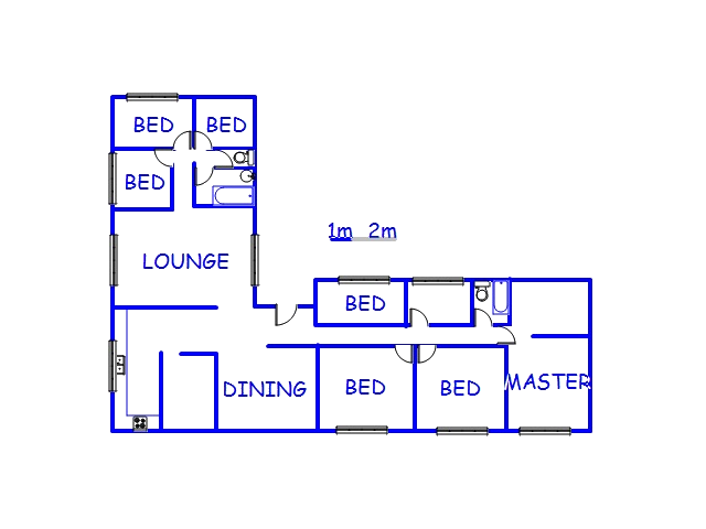 Floor plan of the property in Buyscelia AH