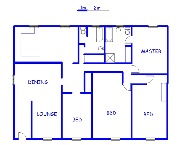 Floor plan of the property in Wentworth Park