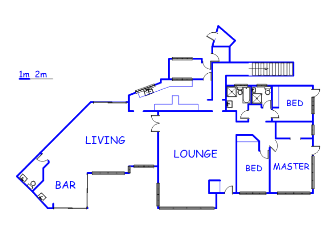 Floor plan of the property in Fish Hoek