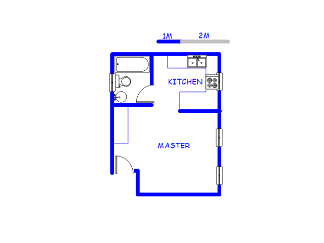 Floor plan of the property in Paulshof