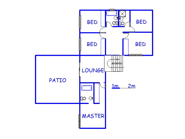 Floor plan of the property in La Mercy