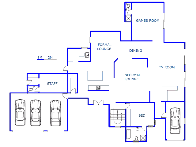 Floor plan of the property in The Wilds Estate