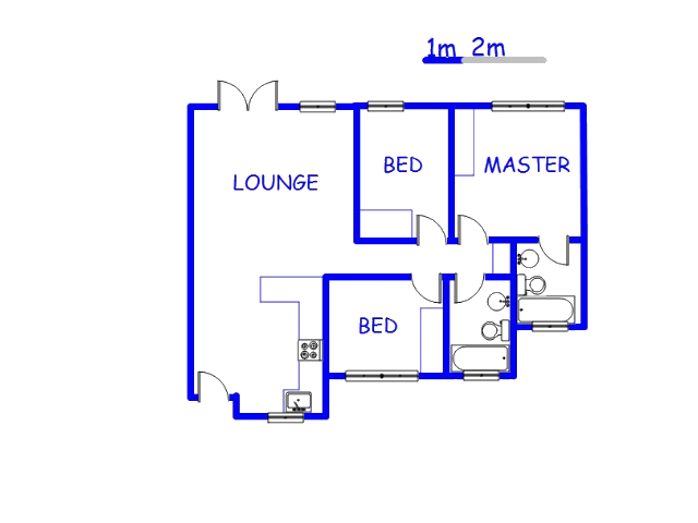Floor plan of the property in Emalahleni (Witbank)