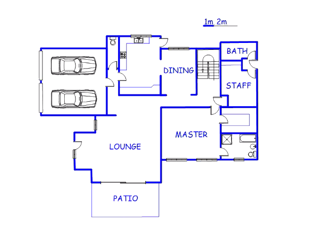 Floor plan of the property in Dainfern Ridge