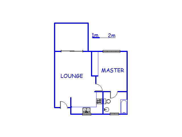 Floor plan of the property in Sheffield Beach