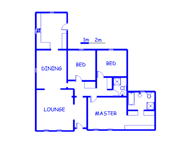 Floor plan of the property in Cyrildene