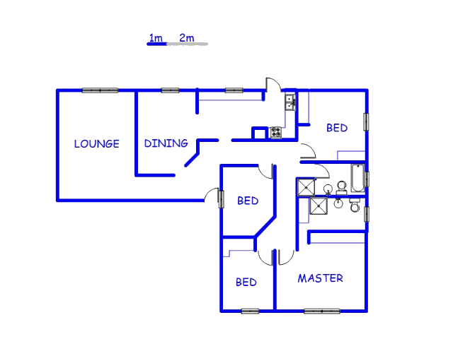 Floor plan of the property in Kelvin View