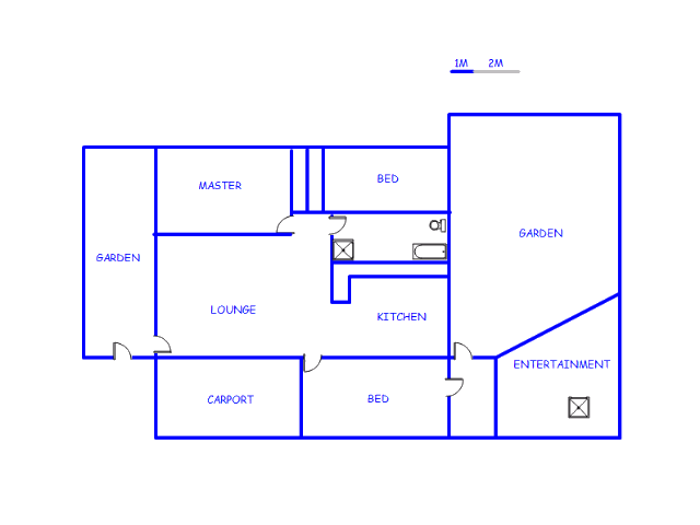 Floor plan of the property in Mayberry Park