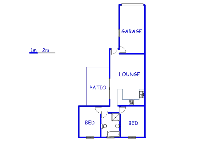 Floor plan of the property in Parklands