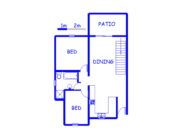 Floor plan of the property in Solheim