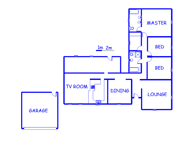 Floor plan of the property in Petersfield
