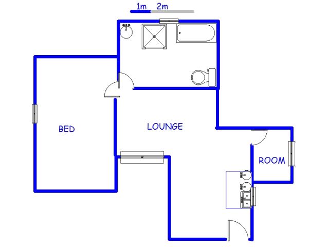 Floor plan of the property in Mnandi AH