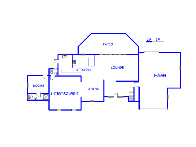 Floor plan of the property in Oranjeville