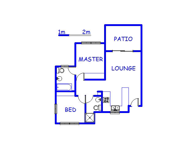 Floor plan of the property in Salt Rock