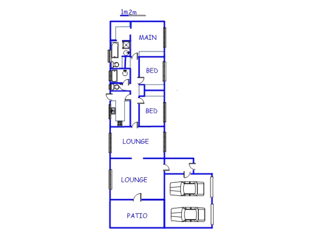 Floor plan of the property in Bashewa