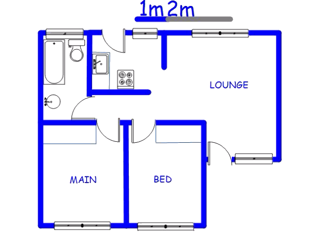 Floor plan of the property in Meriting unit 3
