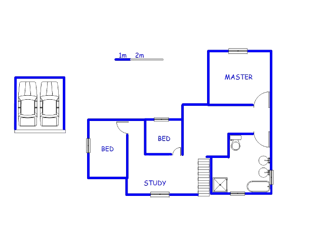 Floor plan of the property in Kyalami A.H