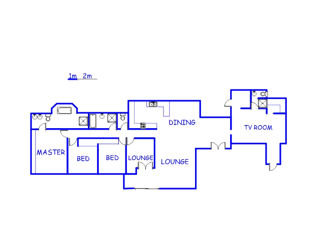 Floor plan of the property in Douglasdale